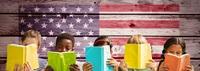 Five children reading books